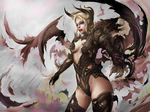 Demoness Fantasy Girl - Demonesses - Magical Pictures